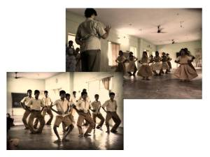 MGR School Students Practising