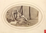 Cashmere nautch girl; a photo by Samuel Bourne, 1860
