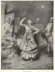 """Nautch dancer,"" print dated 1888, from a travel book (?)"
