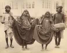 "Delhi dancing girls with musicians,"" early 1900's (?)"