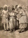 """""""A Nautch Girl Dancing,"""" by R. Caton Woodville, from the Illustrated London News, 1891"""