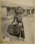 "A Gipsy Dancing Girl, Kathiawar,"" a photo by Taurines, 1880's"