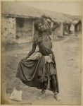 """A Gipsy Dancing Girl, Kathiawar,"""" a photo by Taurines, 1880's"""