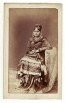 A dancing girl (?), Lucknow, 1870; photo attributed in a caption to Daroghah Abbas Ali