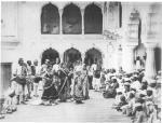 Native Nautch at Delhi [or Shalimar?], 1864