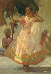 """Danceuse indienne,"" oil painting by J. Pinchon"