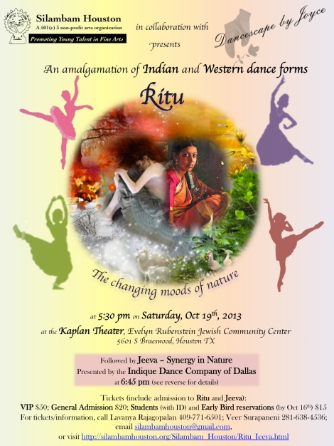 """Promotional Poster of """"Ritu"""" by Silambam Houston"""