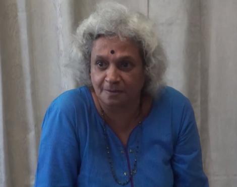 C S Lakshmi @ Ambai Screenshot from Pad.ma video