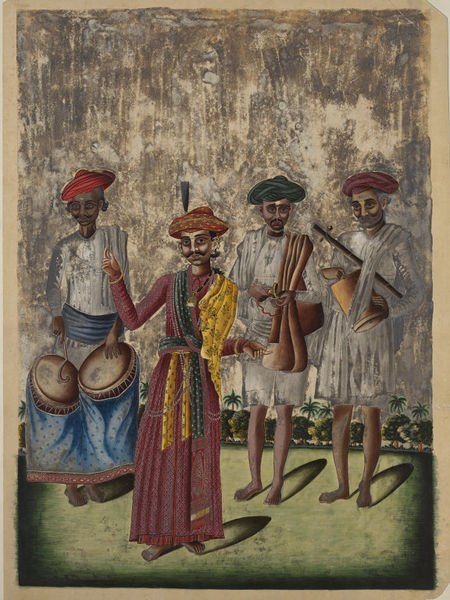 A male dancer or reciter Tanjore 1850