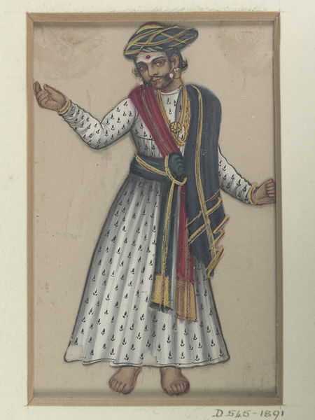 A male dancer1850
