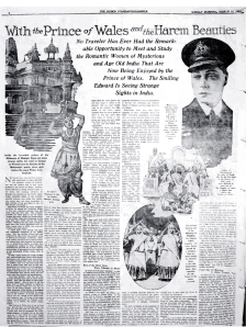 With the Prince of Wales and the Harem Beauties_Nautch_The Ogden Standard Examiner_March_1922_full