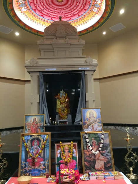 Door 1 Miracles & Messages - Chinmaya Vrindavan altar - Photo by Ramaa Bharadvaj