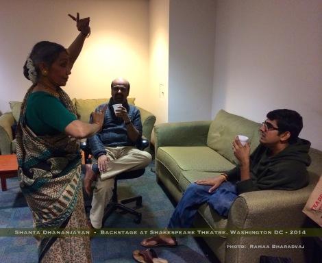 Backstage with Shanta Dhananjayan