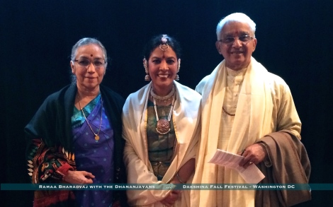 Ramaa with the Dhananjayans after the Dakshina Festival, Washington DC