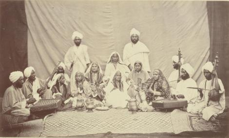 Group of Nautch Girls and Musicians [1860-1880]. Image Courtesy: Thomas Fisher Rare Book Library